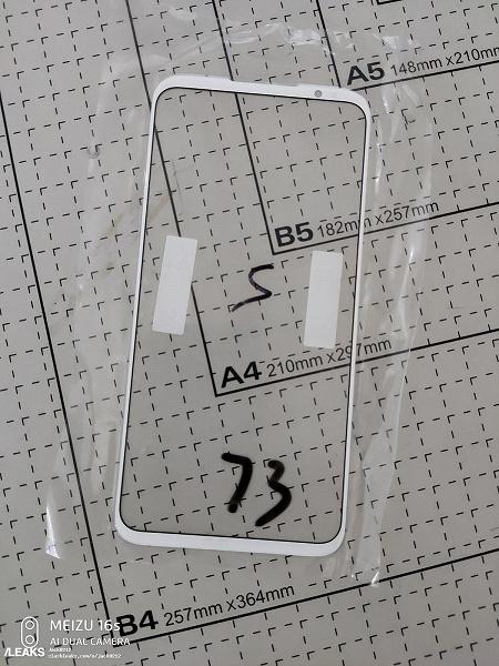 Фронтальную панель Meizu 16s Pro показали на фото