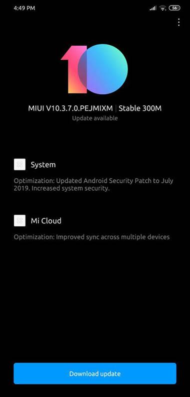 Для Pocophone F1 вышло стабильное обновление MIUI 10.3