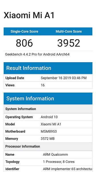Смартфон Xiaomi Mi A1 все же получит ОС Android 10